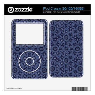 Blue abstract pattern decal for iPod classic