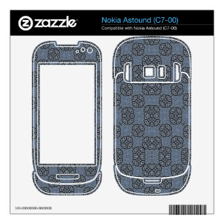 Blue Abstract Pattern Nokia Astound Decal