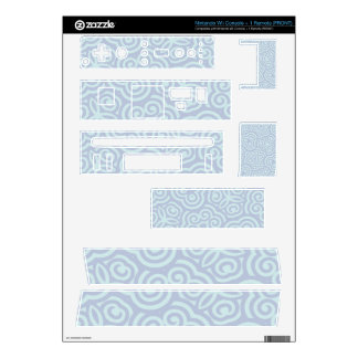Blue abstract pattern decals for wii