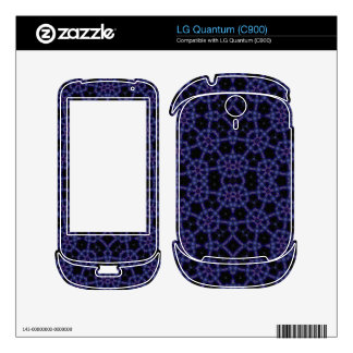 Blue Abstract Pattern Skin For The LG Quantum
