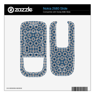 Blue Abstract Pattern Nokia 2680 Slide Skin