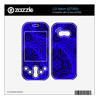 Blue abstract pattern decal for the LG neon