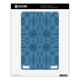 Blue abstract pattern decals for the kindle
