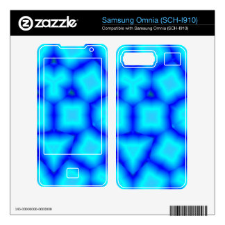 Blue abstract pattern skin for samsung omnia