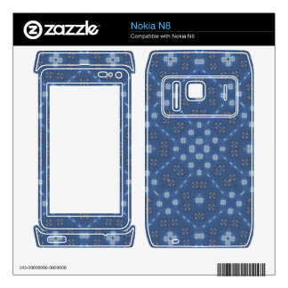 Blue Abstract Pattern Nokia N8 Decals