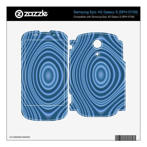 blue abstract pattern skin for samsung epic