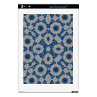 Blue Abstract Pattern Skin For The PS3