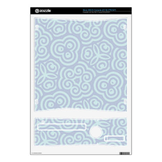 Blue abstract pattern skin for the xbox 360 s