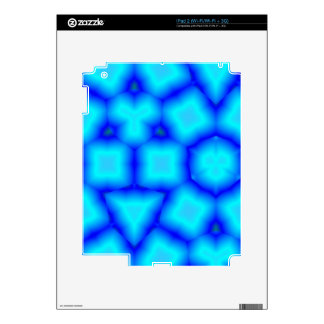Blue abstract pattern skins for iPad 2