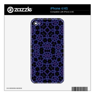 Blue Abstract Pattern Skins For iPhone 4S