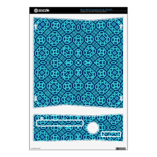 Blue Abstract Pattern Skins For Xbox 360 S