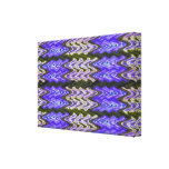 Blue Abstract Pattern Stretched Canvas Print