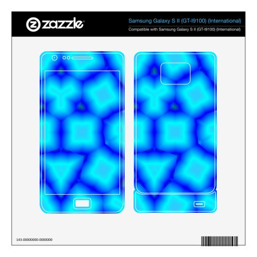 Blue abstract pattern with blue square and triangl samsung galaxy s II skin