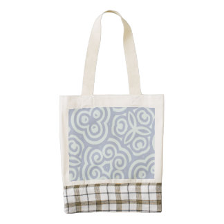 Blue abstract pattern zazzle HEART tote bag