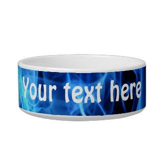 Blue Abstract Pet Bowls