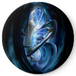 Blue Abstract Pinback Button