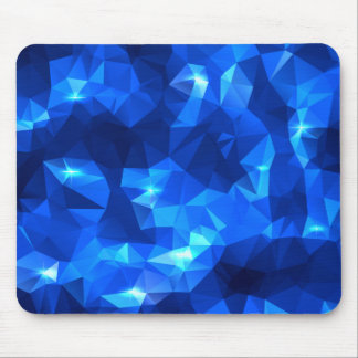 Blue Abstract Polygonal with Stars Mouse Pad