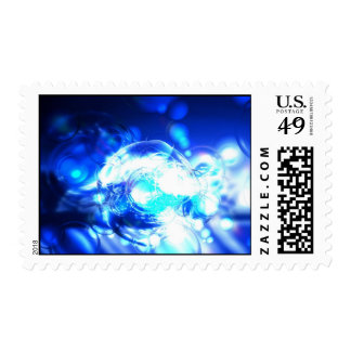 Blue Abstract Postage