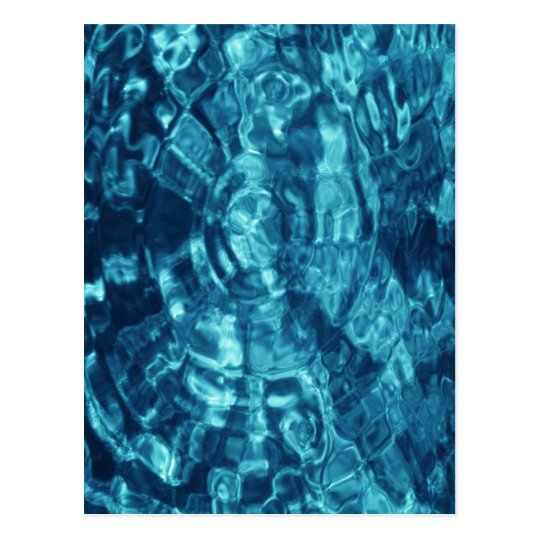 Blue Abstract Postcard