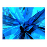 Blue Abstract Postcards