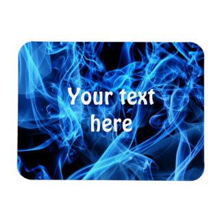 Blue Abstract Rectangular Photo Magnet