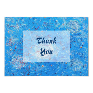 Blue Abstract Printed Pattern Card