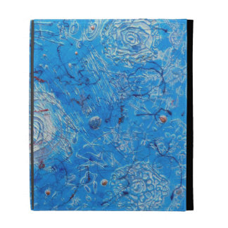 Blue Abstract Printed Pattern. iPad Folio Case