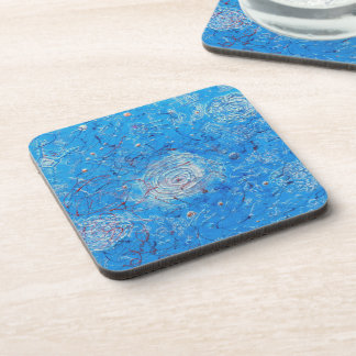 Blue Abstract Printed Pattern Coaster