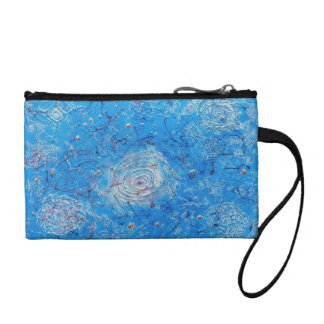 Blue Abstract Printed Pattern. Coin Purse