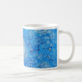 Blue Abstract Printed Pattern Mugs
