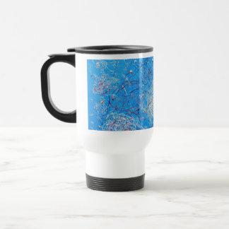 Blue Abstract Printed Pattern Coffee Mug