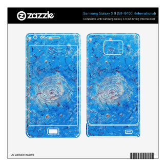 Blue Abstract Printed Pattern. Samsung Galaxy S II Decal