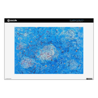 Blue Abstract Printed Pattern. Skin For Laptop
