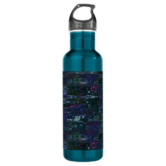 Blue Abstract Reflections Liberty Bottle 24oz Water Bottle