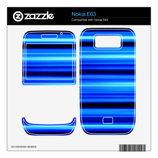 Blue Abstract Skin For The Nokia E63