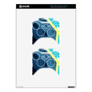 Blue Abstract Xbox 360 Controller Skin