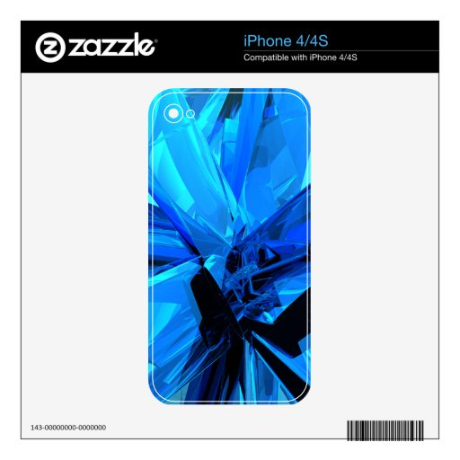 Blue Abstract Skin For iPhone 4S