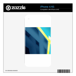 Blue Abstract Skin For The iPhone 4S