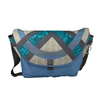 Blue Abstract Snakeskin Tortoise Shell Bag Courier Bags