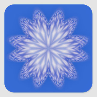Blue Abstract Snowflake Sticker