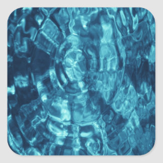 Blue Abstract Square Sticker