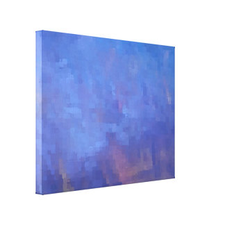 Blue Abstract Squares Design Canvas Print