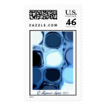Blue abstract Stamp
