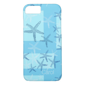 Blue Abstract Starfish iPhone 7 Case