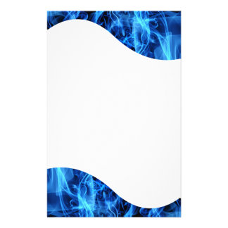 Blue Abstract Personalized Stationery