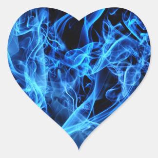 Blue Abstract Heart Sticker