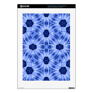 Blue abstract stylish pattern skin for the PS3 console