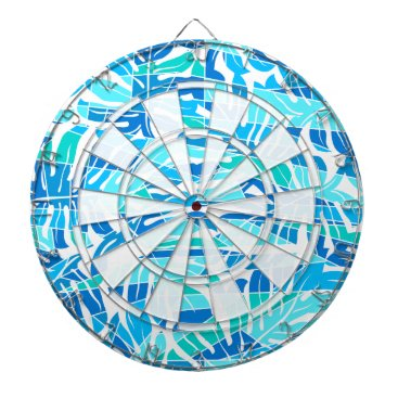 Hawaiian Themed Blue abstract surf dartboard