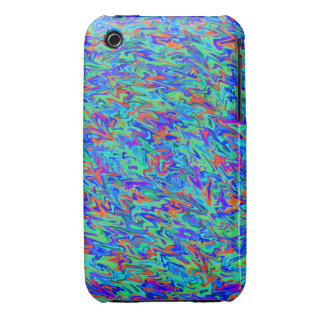 Blue Abstract Swirl iPhone 3 Cover