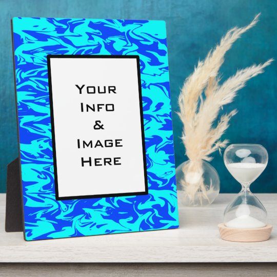 Blue Abstract Swirl Frame